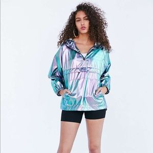 UO silence + noise iridescent packable windbreaker